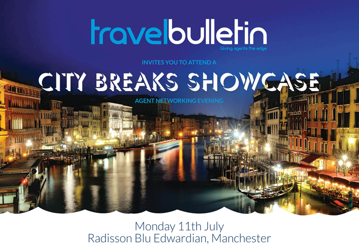 City Breaks Showcase Monday 11th July Manchester