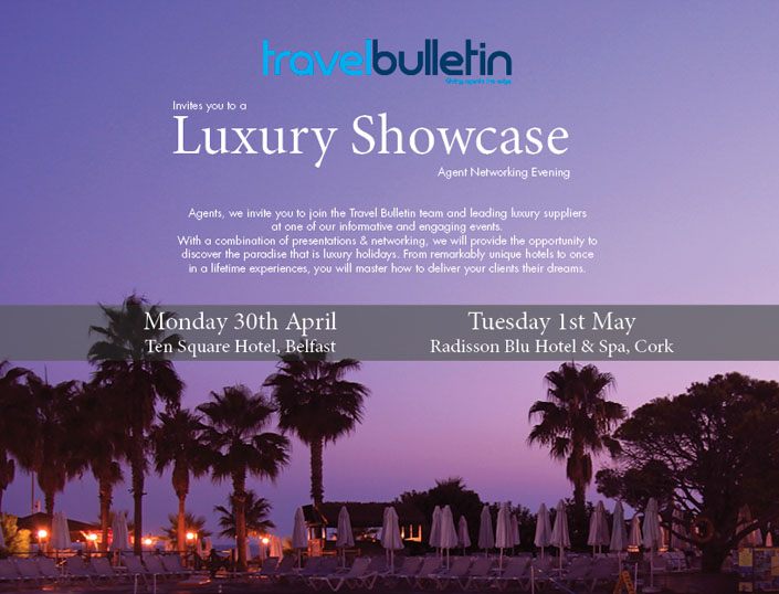 Luxury Showcases - Monday, 30th April Belfast