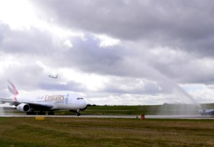 Emirates celebrates one millionth A380 passenger from Birmingham Airport