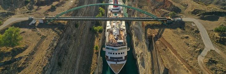 Fred. Olsen announces third Corinth Canal sailing on Braemar