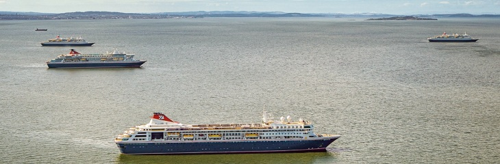 Fred. Olsen Cruise Lines' four ocean ships move to Babcock's Rosyth facilities