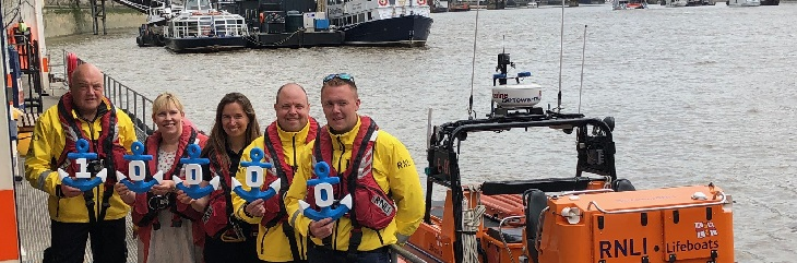 Fred. Olsen presents Tower RNLI with 10000 donation