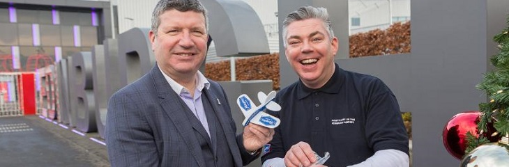 Hampton Edinburgh general manager Craig Webster Edinburgh Airport Chief Executive Gordon Dewar