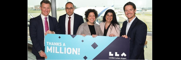 London Luton Airport EL AL millionth passenger