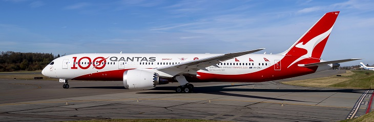 Qantas centenary celebrations take off as direct London-Sydney flight lands