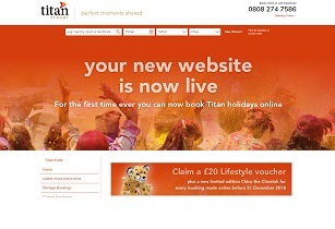 Titan Travel new trade website screengrab