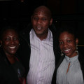 Michelle Gilkes (left) Carl Hamilton and Yosha Gilkes from Real Deals Travel get ready to be entertained.