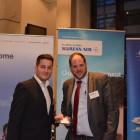 Korean Air: Rob Brettell, Winner from Flight Centre Oxford Road: Nuno Martins