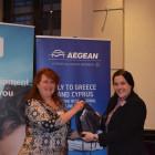 Aegean: Lynda Betsch, Winner from Prestbury Travel Group: Julie Healey