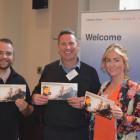 Lufthansa Group:Paul Bullough (LEFT), Agents from Holiday Getaway Ltd: Paul McMahon, Angela Lucas