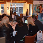 Agents enjoying the Visit Barbados presentations