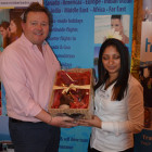 Lucky winner of the Travelpack champagne hamper was Highgate Travel's Stephen Worswick.