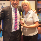 Second bingo winner of the evening was Lynne Wilbor from Spear Travels, with Travel Bulletins Simon Eddolls