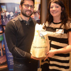 Winner of the Bahamas goody bag was Sharon McConway from North America Travel Service, courtesy of Nathan Birac.
