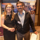 Winner of the 3 nights stay at the Dreams Sands Cancun, was the very lucky Visnu Mistry from YS Travel, courtesy of AM Resorts Kirsty Lilley.