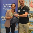 Jennifer Gibbons wins an Aegean Airlines goody bag Matt Walder