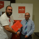 Adrian Marpole from Excite with Adam Palmer from Personal Travel Agents