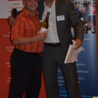 Michael Atkinson from Co Operative Travel wins a bottle of wine courtesy of Simon