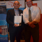 Sion Jones from Teithiau Menai Travel wins an accomdation stay from Eagles Palace Max Tchanturia
