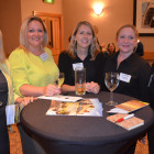 Gaynor Davies and Karen Cioma-Park from Chester Travel Connection, with Deva Travels Kerry Ccok, Caroline Jeacock and Liz Watts