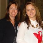 (l to r) Lisa Darchambaud of Per Aquum presents a champagne gift set to Rebecca Roche of Thomas Cook Wigan