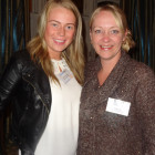 15. (l to r) Kelly McNicholas of Thomas Cook Wigan – winner of a 7 nights stay on Mauritius, with Sarah Lake of Heritage Resorts.
