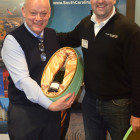 David Perry ( Chruch Village Travel ) wins Fortnum and Mason Hamper, from Rhys Powell South Carolina
