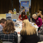 Titan's Sharon Tait showcasing the brochure & itineraries