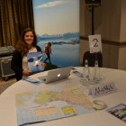 Maria Costa Lobo presenting the Alaska Tourist Office