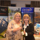Winner of the Bingo – Michelle Harriman from Hanson Travel with Jeanette Ratcliffe ( Travel Bulletin )