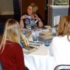 Vicki Marley from Great Rail Journeys with the agents!