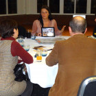 Nina Farrimond from South African Tourism UK with a group of agents.