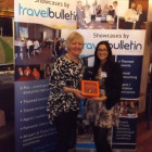 Leslie Clements Travel Counsellors with Tasneem Rahman, Travel Bulletin
