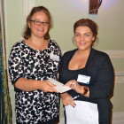 The Winner of 3 nights at the Almyra Hotel was Gemma Milne of Pole Travel.(Left to right) Sophia Buttigieg, Thanos Hotels. Gemma Milne, Pole Travel.