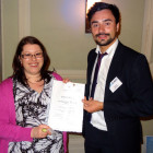 The winner of 3 nights at the Eagles Palace Hotel & Spa in Halkidiki was Rachael Kalus of Key Travel. Rachel receives her prize from Matthew Gill of Travel Bulletin