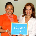 The winner of 5 nights at the Aldemar Royal Mare was Arniecia Freeman of Co Op Travel Heywood. Arniecia (left) receives her prize from Mandy Kalliontzi, Aldemar Hotels & Spa
